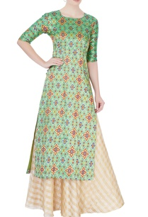 light-green-kurta-lehenga
