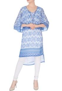 white-blue-kaftan-style-kurta