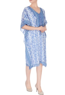 white-blue-printed-kaftan