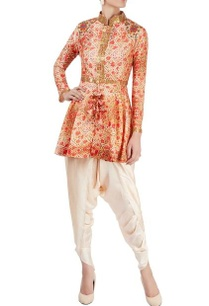 orange-floral-printed-kurta-set