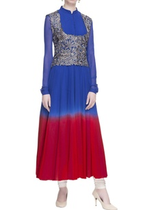 blue-red-ombre-kurta-with-jacket