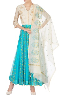 white-blue-floral-anarkali-with-dupatta