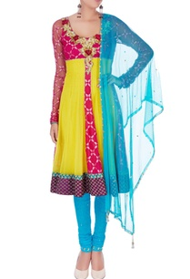 multicolored-applique-embroidered-kurta-set