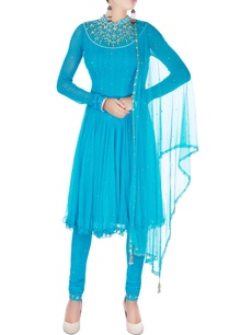 blue-pleated-style-kurta-set