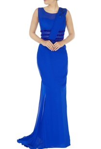blue-mermaid-gown-with-attached-drape