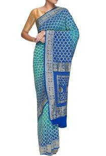 blue-banarasi-bandhani-sari