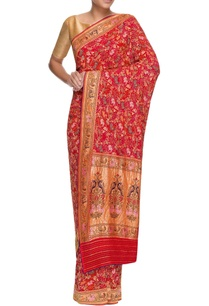 red-georgette-bandhani-sari