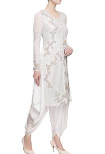 white-kurta-dhoti-pants-in-silver-embellishments