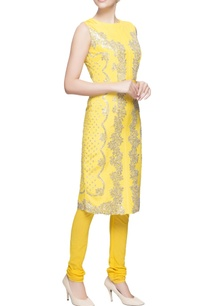 yellow-kurta-set-with-silver-embellishments