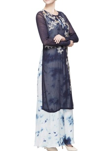 black-embroidered-kurta-jumpsuit