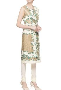 white-floral-kurta-set