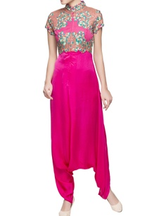 hot-pink-draped-jumpsuit