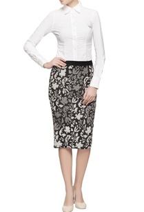 black-cutwork-pencil-skirt