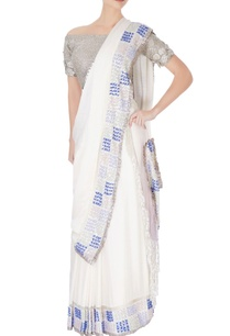 white-sari-in-silver-sequin-work