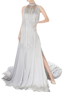 grey-halter-tassel-work-gown