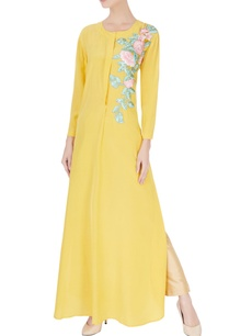 yellow-resham-embroidered-kurta