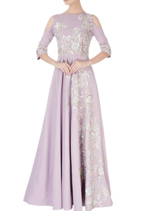 lavender-cold-shoulder-sequin-anarkali