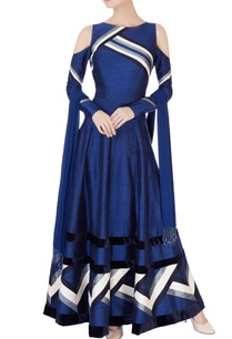 blue-cold-shoulder-anarkali