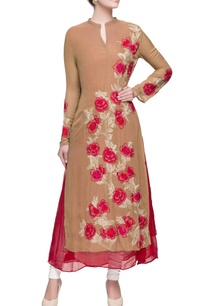 brown-kurta-in-multicolored-floral-embroidery
