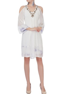 white-georgette-short-dress