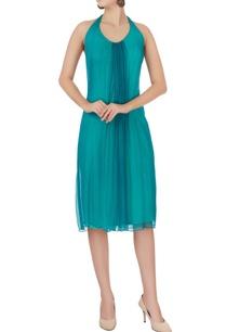 sea-green-halter-neck-dress