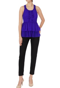 purple-peplum-georgette-top