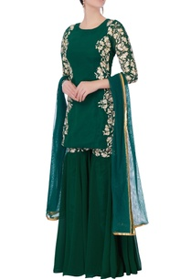 green-kurta-with-sharara-pants-dupatta