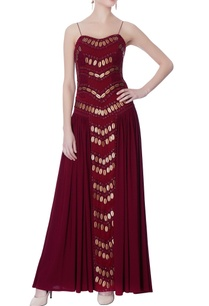 maroon-gown-with-hand-designed-embellishments