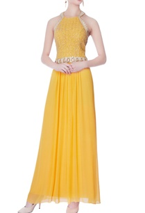 yellow-halter-style-gown