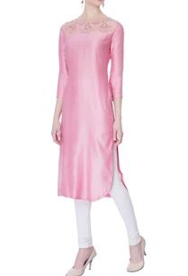 pink-chanderi-handloom-kurta