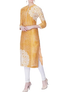 burnt-orange-block-printed-kurta