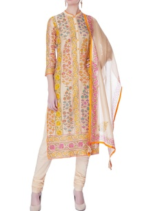 multicolored-block-printed-kurta-set