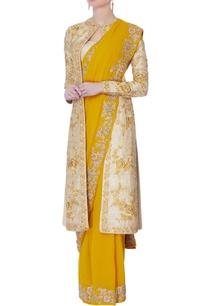 yellow-sari-raw-silk-jacket