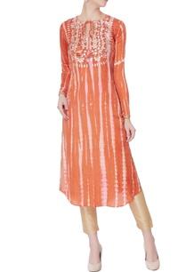 orange-dyed-kurta-with-embellishments