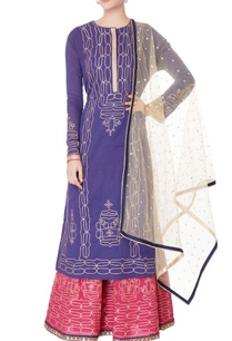 purple-kurta-pink-lehenga-with-dupatta