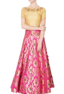 beige-raw-silk-blouse-lehenga