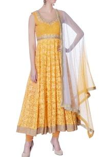mango-yellow-lucknowi-embroidered-kurta-set