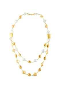 gold-double-tier-pearl-necklace