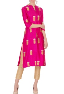 rani-pink-brocade-silk-kurta
