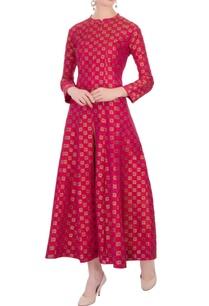 hot-pink-brocade-silk-kurta