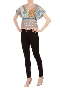 multi-colored-embellished-poly-mesh-blouse