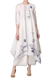 white-asymmetric-hem-kurta-with-palazzos