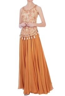 cream-chanderi-silk-kurta-skirt
