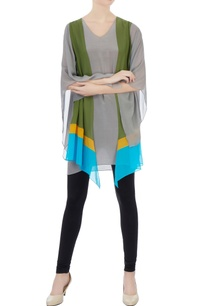 grey-crepe-square-sleeves-tunic