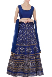 blue-raw-silk-lehenga-set