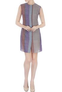 multi-colored-handwoven-cotton-striped-dress