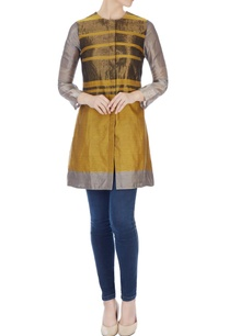 mustard-handwoven-color-blocked-tunic