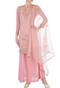 pink-cotton-embroidered-kurta-set