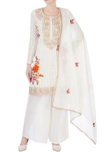 white-cutout-kurta-with-palazzos-dupatta