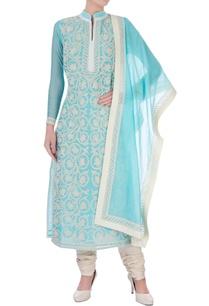 blue-chanderi-silk-dori-jaal-long-kurta-set